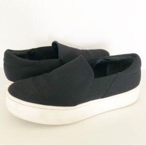 Vince Black Warren Slip On Platform Sneakers 9